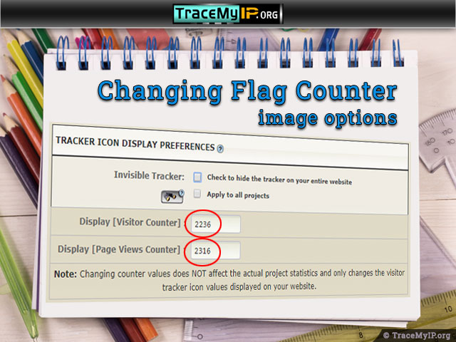 changing flag counter image options