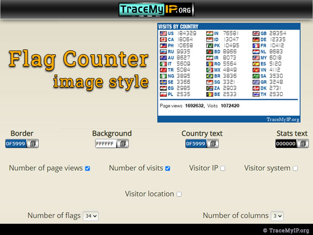 Flag counter image style options