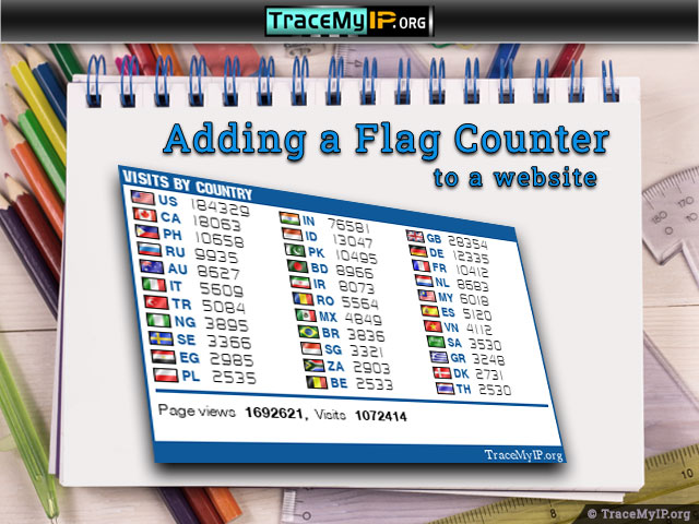 how to add a flag tracker to website