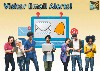Tag visitor IPs and receive email alerts instantly