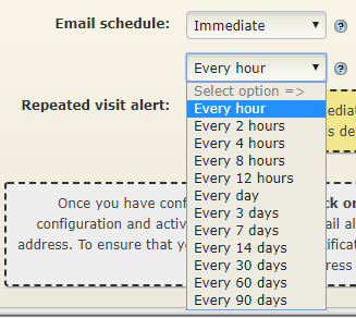 Immediate email notifications